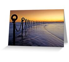 Post & Chains at Dusk Greeting Card