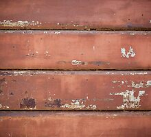 Old iron rolling shutter. by Antonio Gravante