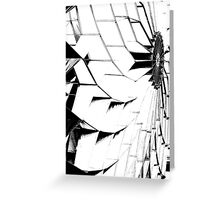 stilized kites flying in the sky Greeting Card