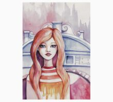 Watercolor girl in Venice Kids Clothes