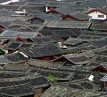 Lijiang Rooftops 1 by Mark Snelson