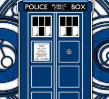 TARDIS and Clock - Doctor Who Sticker