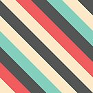 Retro Striped Pattern by Mike Taylor
