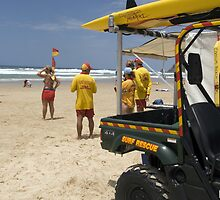 Surf Rescue at Coolum Beach, Sunshine Coast by Shutterbug