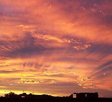 Sunset near Lake Sunday, Southern Yorke Peninsula, South Australia by Craig Watson