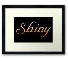 Shiny - Firefly and Serenity Framed Print
