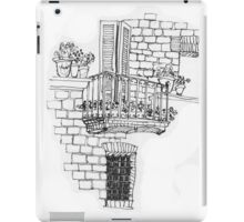 Italy- A window below the balcony in Assisi iPad Case/Skin
