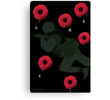 ❤ † ❤ †LEST WE FORGET MEMORIAL DAY DEDICATION TAKE TIME TO REMEMBER & RELFECT HUGS--PICTURE & OR CARD❤ † ❤ † Canvas Print