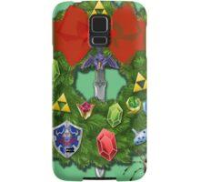 Zelda Christmas Card: Zelda themed Wreath Samsung Galaxy Case/Skin