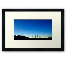 the aliens approach Framed Print