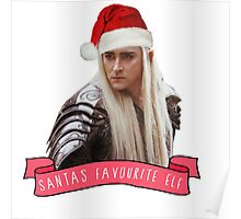 Santa's Favourite Elf - Thranduil Poster