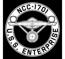 USS Enterprise Logo - Star Trek - NCC-1701 (TOS) Photographic Print