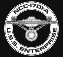 USS Enterprise Logo - Star Trek - NCC-1701-A (movie) by createdezign