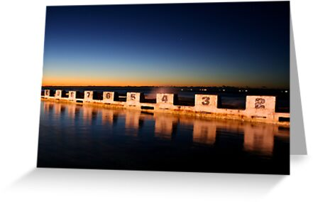 Diving Blocks at Dawn by Mark Snelson