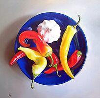 Summer plate #1 by Elena Kolotusha