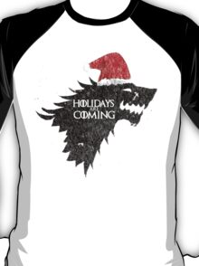 Thrones Christmas: Holidays are Coming T-Shirt