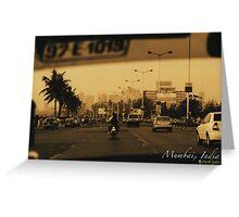 Mumbai by Cab Greeting Card