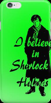 I believe in sherlock Holmes - green by ibx93