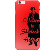 I believe in sherlock Holmes - red iPhone Case/Skin