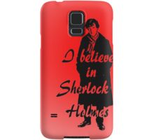 I believe in sherlock Holmes - red Samsung Galaxy Case/Skin
