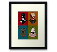ALL MONSTERS ARE HUMAN Framed Print