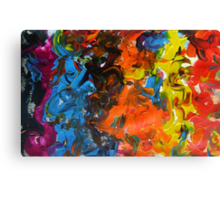 Parade contemporary abstract festival multicolour painting Canvas Print