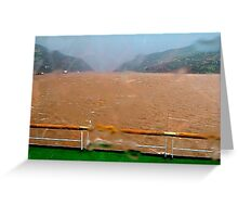 Sudden squall on the Yangtze River Greeting Card