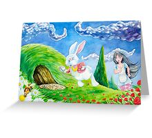 Oh dear! I shall be late! (Alice and the White Rabbit) Greeting Card