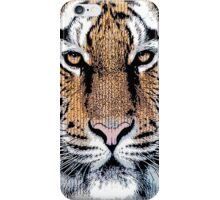 Tiger Portrait in Graphic Press Style iPhone Case/Skin