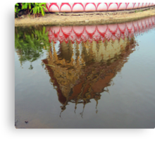 Thailand- Temple Reflection Canvas Print