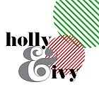 Christmas ampersand - holly & ivy by rperrydesign