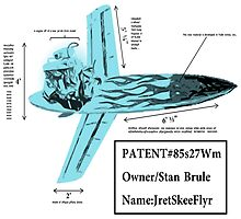 Stan Brule Flying Surfboard Blueprints Design by SmashBam by SmashBam