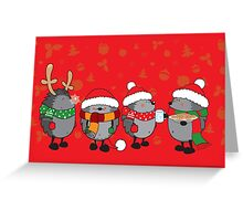 Christmas hedgehogs Greeting Card
