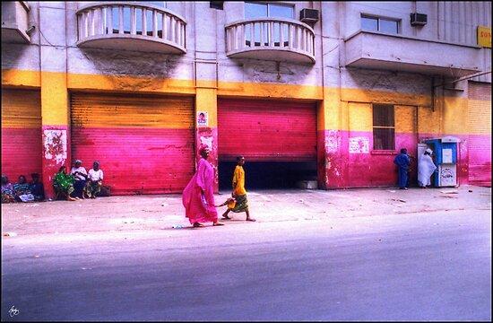 Colors on the Streets of Dakar Senegal by Wayne King