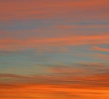 orange sunset Sticker