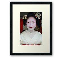 Butterfly Maiko Framed Print