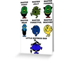 Dr. Who - The Master Men Greeting Card