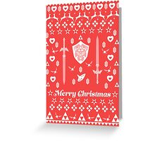Zelda Christmas Card Jumper Pattern Greeting Card