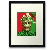 Seasons Grootings Framed Print