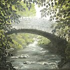 The Bridge in Summer - oil on canvas by Rayjun