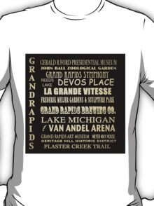 Grand Rapids Michigan Famous Landmarks T-Shirt