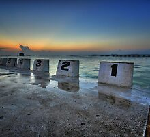 Merewether Ocean Baths at Dawn 1 by Mark Snelson