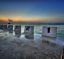 Merewether Ocean Baths at Dawn 1 by Mark Snelson