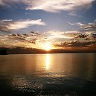 sunset from Kwinana beach by dodgsun