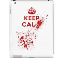 Keep Calm Blood Splatter iPad Case/Skin