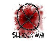 Slenderman blood spatter and symbol Photographic Print