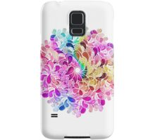 Rainbow Watercolor Paisley Flower Samsung Galaxy Case/Skin