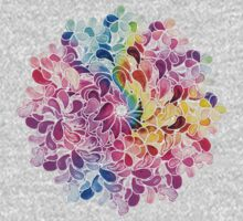 Rainbow Watercolor Paisley Flower Kids Clothes