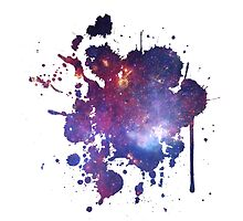 Space Splatter Two (White) by davidyarb