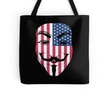 Guy Fawkes American Flag Tote Bag